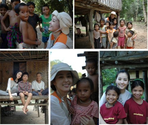 Han Hyejin with Tanzania Kids