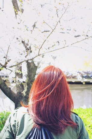 Changed my hair color to red